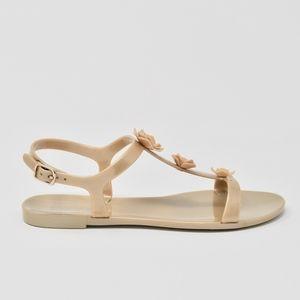 Badgley Mischka Flower Sandals Size 7